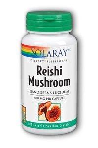 Solaray Reishi Mushroom Capsules, 600 Mg, 100 Count