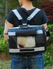 犬 猫 リュック も 肩掛け もOK ペット用 3way ソフト キャリーバッグ Lサイズ (ブルー)