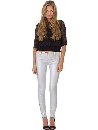 Jeans Jeg Zyp Power Shiny Silver TEDDY SMITH W29 Femme