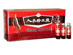 Deluxe Ginseng Royal Jelly 10ML Vials by Royal King - 30 Vials