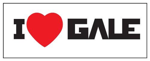 Hunger Games I Heart Gale Sticker Decal. Black and Red