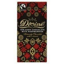 Divine 70% Dark Chocolate With Raspberries 100G