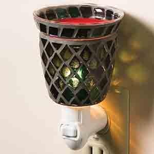 Mosaic Plug-In Tart Burner - Midnight