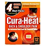 Cura Heat Back and Shoulder Pain Heat Pads - Pack of 4
