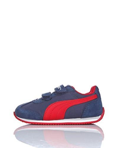 Puma Scarpa Rio Speed Nylon V Kids [Dark Denim/High Risk Red]
