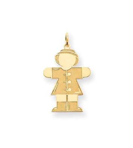 24k Gold Plated Girls Rain Coat Boots Hat Charm Pendant