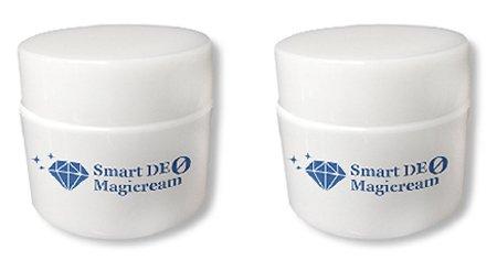 スマートデオマジックリーム 2個セット(加齢臭、体臭、わきが対策薬用消臭クリーム)医薬部外品