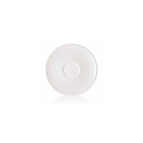 Foh Dbb003Whp23 Spiral Bouillon / Cream Soup Saucer - 12 / Cs