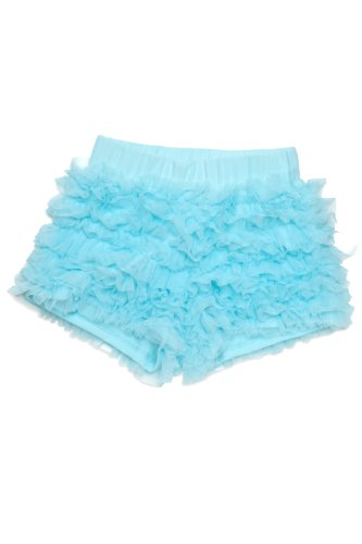 Kate Mack - Dipped In Daisies Girl's Ruffled Netting Skort in Aqua