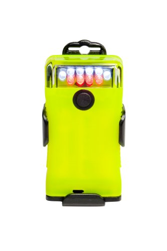 FoxFury 300-304 Scout Tasker-Safety White/Red LED Utility Light and Right Angle Flashlight with Glow Case, 20.0/2.7 Lumens