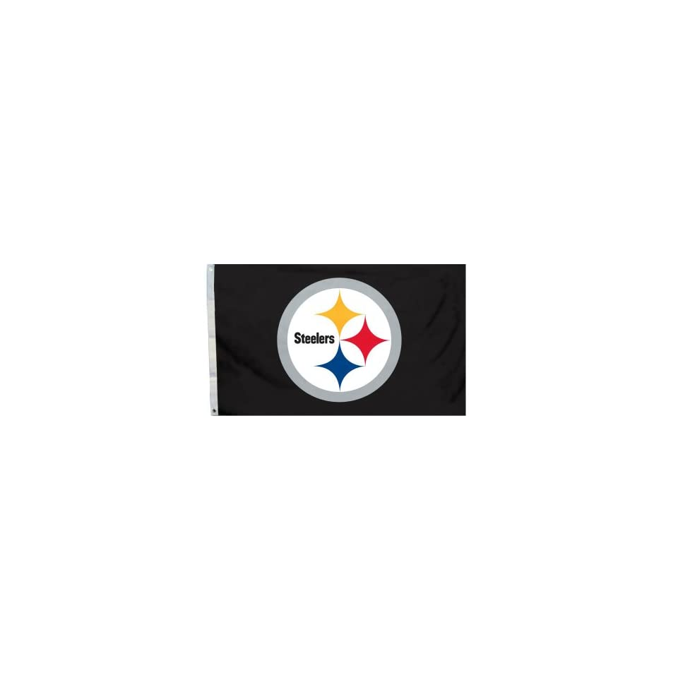 NFL Pittsburgh Steelers Logo Only 3 by 5 Feet Flag with Grommetts