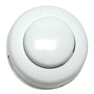 Satco 80-1466 Step-On-Button On/Off Push Floor Switch, White