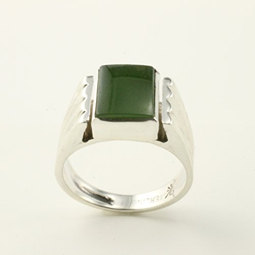 Nephrite Jade Sterling Silver Ring (Pinkie Cast compare prices)