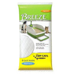 Tidy Cat Breeze Cat Litter Pads Refill, 4 Pads 1 ea