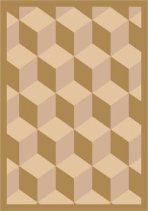 Joy Carpets Kaleidoscope Highrise Whimsical Area Rugs, 64-Inch by 92-Inch by 0.36-Inch, Beige