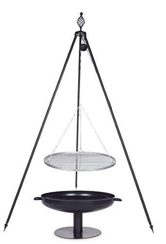 Schwenkgrill mit Dreibein Royal, Rost 80 cm aus Edelstahl, Feuerschale #41 80 cm online kaufen