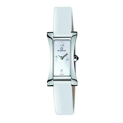 Eterna 2610.41.10.1375 Montre bracelet Femme, Cuir, couleur: blanc