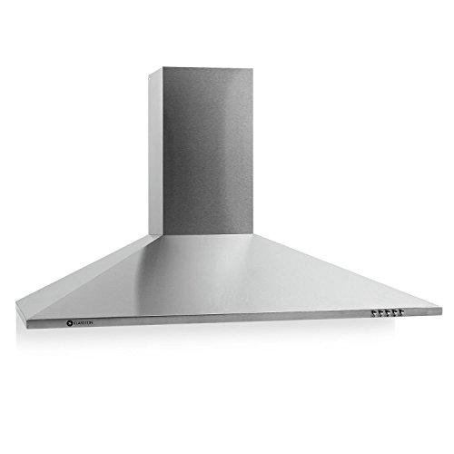 Klarstein TR90WS Filter 3 Cappa apirante da cucina (90 CM, apirazione max 340m³/h, illuminazione con lampade)