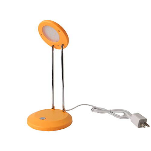 Black Friday Promotion! E3L 5W Height Adjustable Fashion Led Desk Lamp, Foldable Style, Optional Power Sources-Usb Or Power Adaptors,Orange