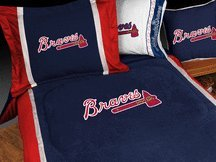 Atlanta Braves MicroSuede Full / Queen Comforter from