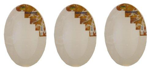 Imagen principal de Idena 643293 - Lienzo oval (20 x 30 cm, 3 unidades) [importado de Alemania]