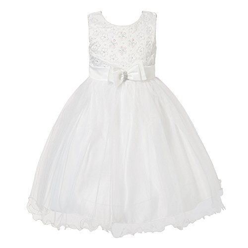 Richie House Big Girls' Princess Dress with Mesh and Bow RH1935-A-8