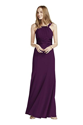 Chiffon and Charmeuse Bridesmaid Dress with Rounded Neckline Style F12732,... Charmeuse Maternity Bridesmaid Dress