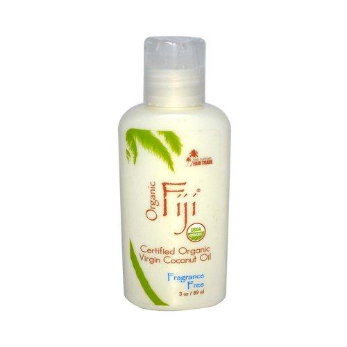 Organic Fiji Virgin Coconut Oil Fragrance Free 3 Oz