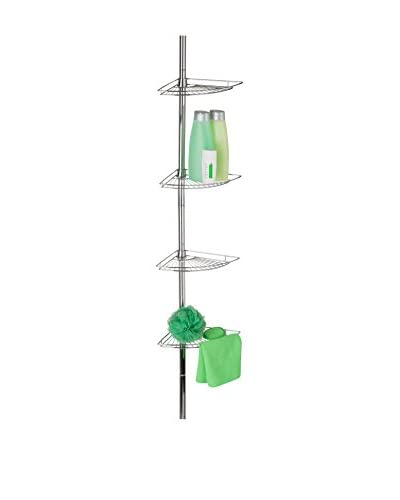 Honey-Can-Do Low Profile Chrome Corner Tension Rod Shower Caddy