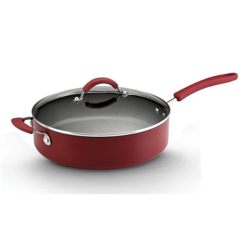 Kitchenaid aluminum nonstick 12 piece cookware set red - Kitchen aid pan set ...