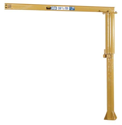 Contrx Cranes B Series Medium Duty Floor Mounted Jib Crane, 1/2 Ton Capacity, 127-1/2