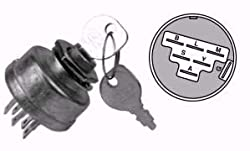 Lawn Tractor Ignition Switch; Craftsman, Sears, Wizard, Husqvarna, Poulan 140301; MTD 725-1717; Murray 92556