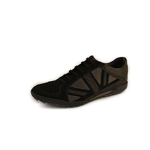 Scarpe sneakers EVEET uomo numero 39 in camoscio nero L11NERO