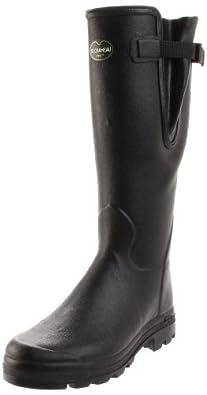 Le Chameau Men's Vierzon Rain Boot,Black,7 M US