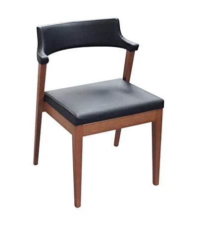 Domitalia Lyra Chair, Black Leather
