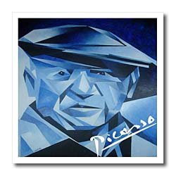 Picasso The Blue Period - 10x10 Iron On Heat Transfer For White Material