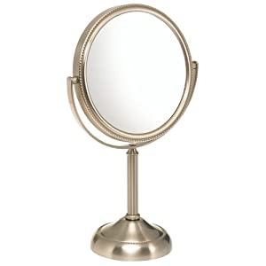Jerdon JP910NB 6-Inch Table Top Mirror, 10X Magnification, Nickel Finish $11.99