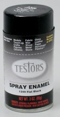 flat black spray testors enamel plastic model paint testor corp. Black Bedroom Furniture Sets. Home Design Ideas