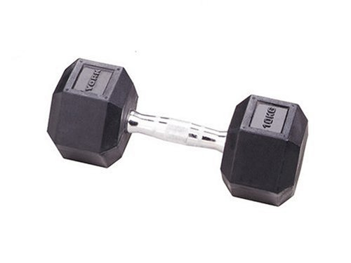York 22.5kg Rubber Hex Dumbbell
