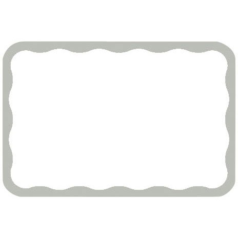 Silver Border Name Tags - 1