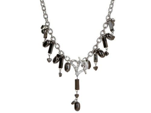 Wholesale Set Of 8, Michele Caruso Black Metallic Bead And Heart Necklace (Jewelry, Necklaces), $9.74/Set Delivered