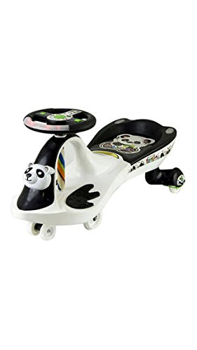 EZ' Playmates Bajaj Baby Panda Magic Car - White Black