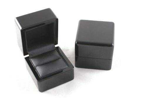 1 x Premium Glossy Ebony Series Wooden Ring Box (WB-00)