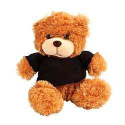 PLUSH BEAR WITH BLACK TSHIRT