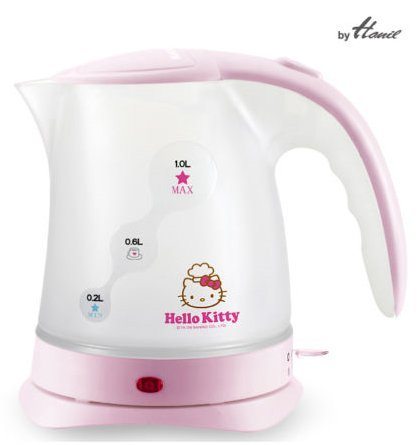 Hello Kitty Electric Kettle Hot Pot Cordless 1000mL 1000W Hanil HEK-104HK (Kettle Hello Kitty compare prices)