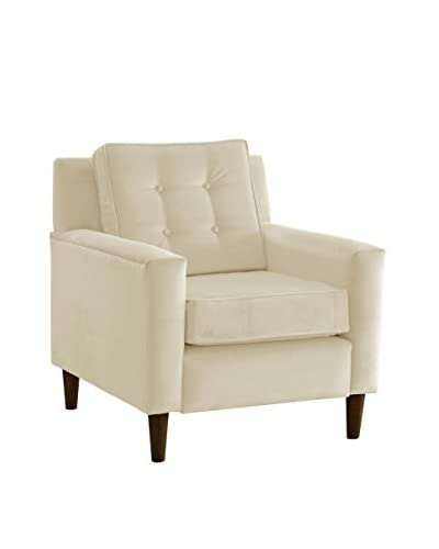 Skyline Velvet Armchair, White