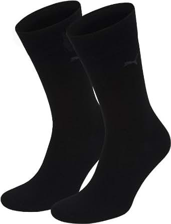 Puma - Chaussettes de Ville - Lot de 2 - Homme - Noir (Black) - 39-42