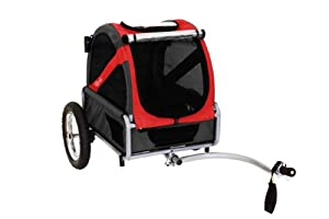 DoggyRide Mini Dog Bike Trailer, Rebel Red/Black