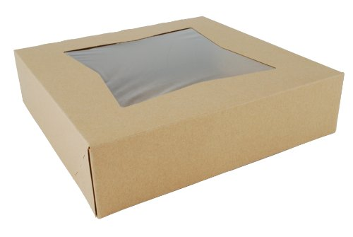 Southern Champion Tray 24233K Kraft Paperboard Window Bakery Box, 10