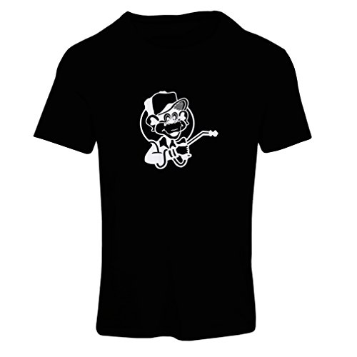 N4055F T-shirt female Funny Gas monkey (X-Large Nero Fluorescente)